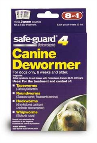 8 in1 Excel Safe Guard Canine Dewormer