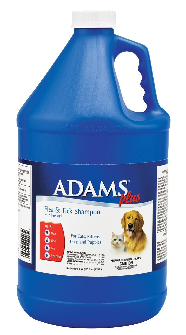 Adams Plus Flea & Tick Shampoo with Precor Gallon