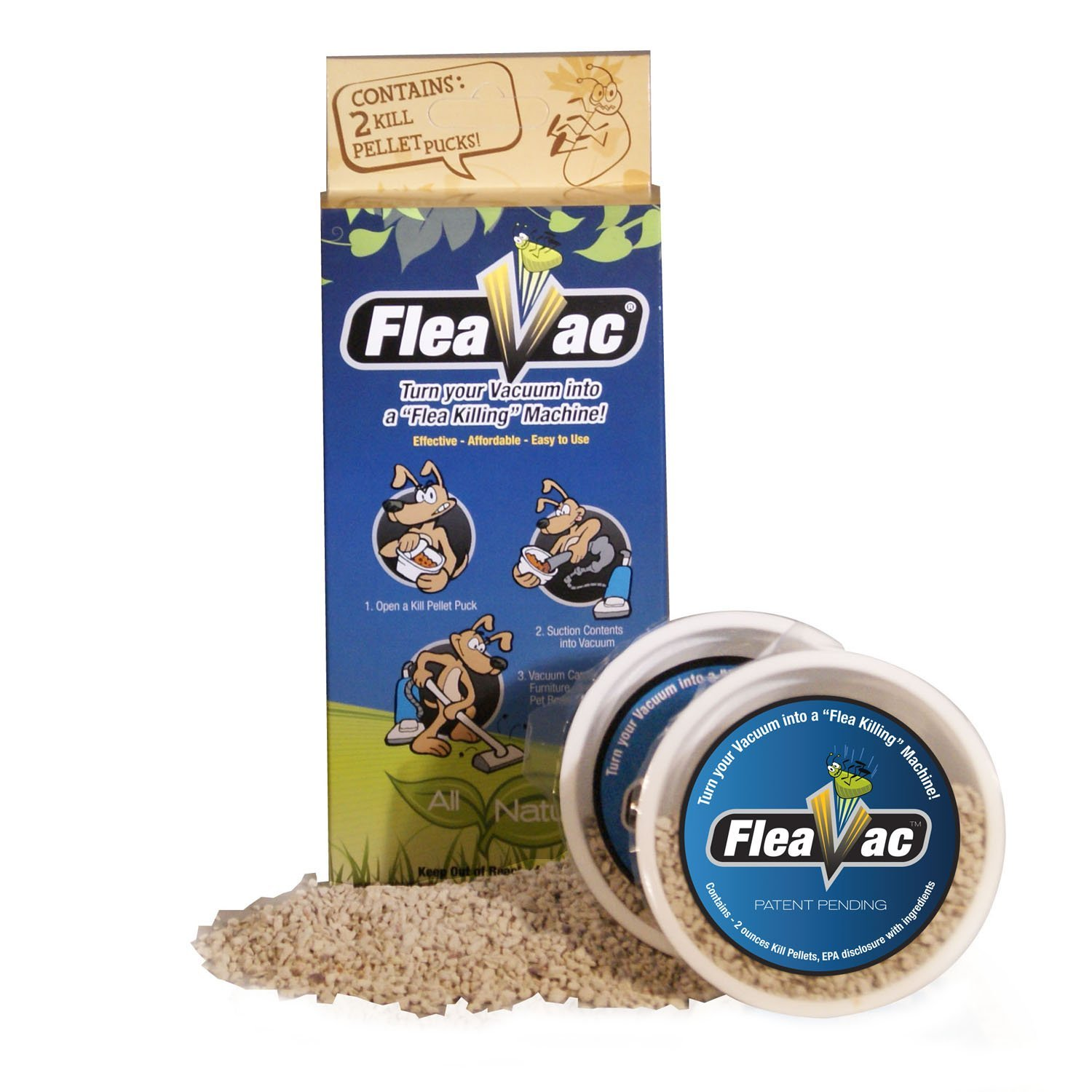 FleaVac 2 Pack Kill Pellets