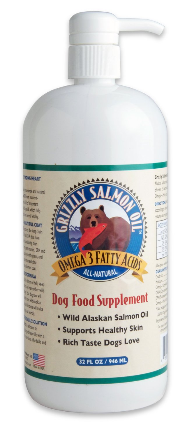 Grizzly Salmon Oil All-Natural Dog Food Supplement
