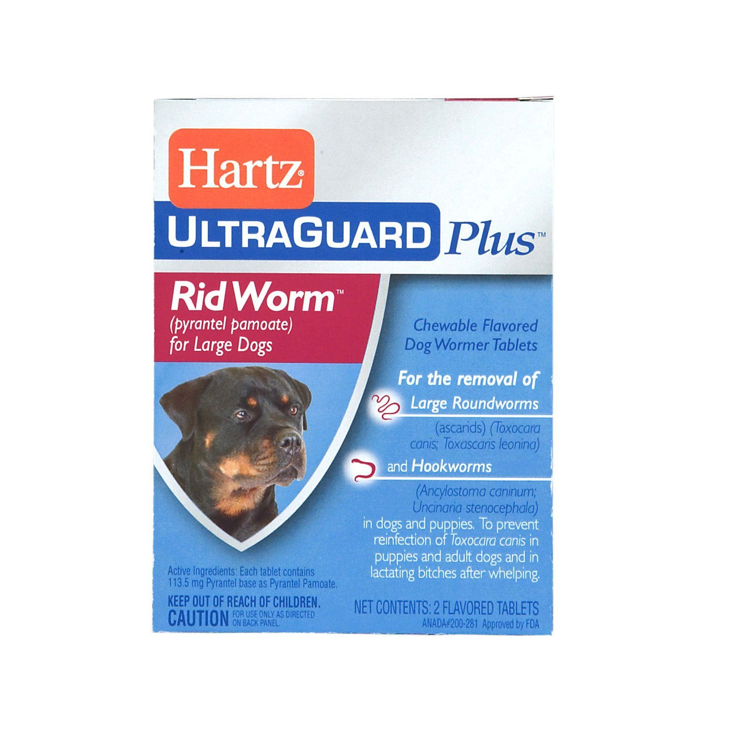 Hartz UltraGuard Plus Rid Worm Tab Dog