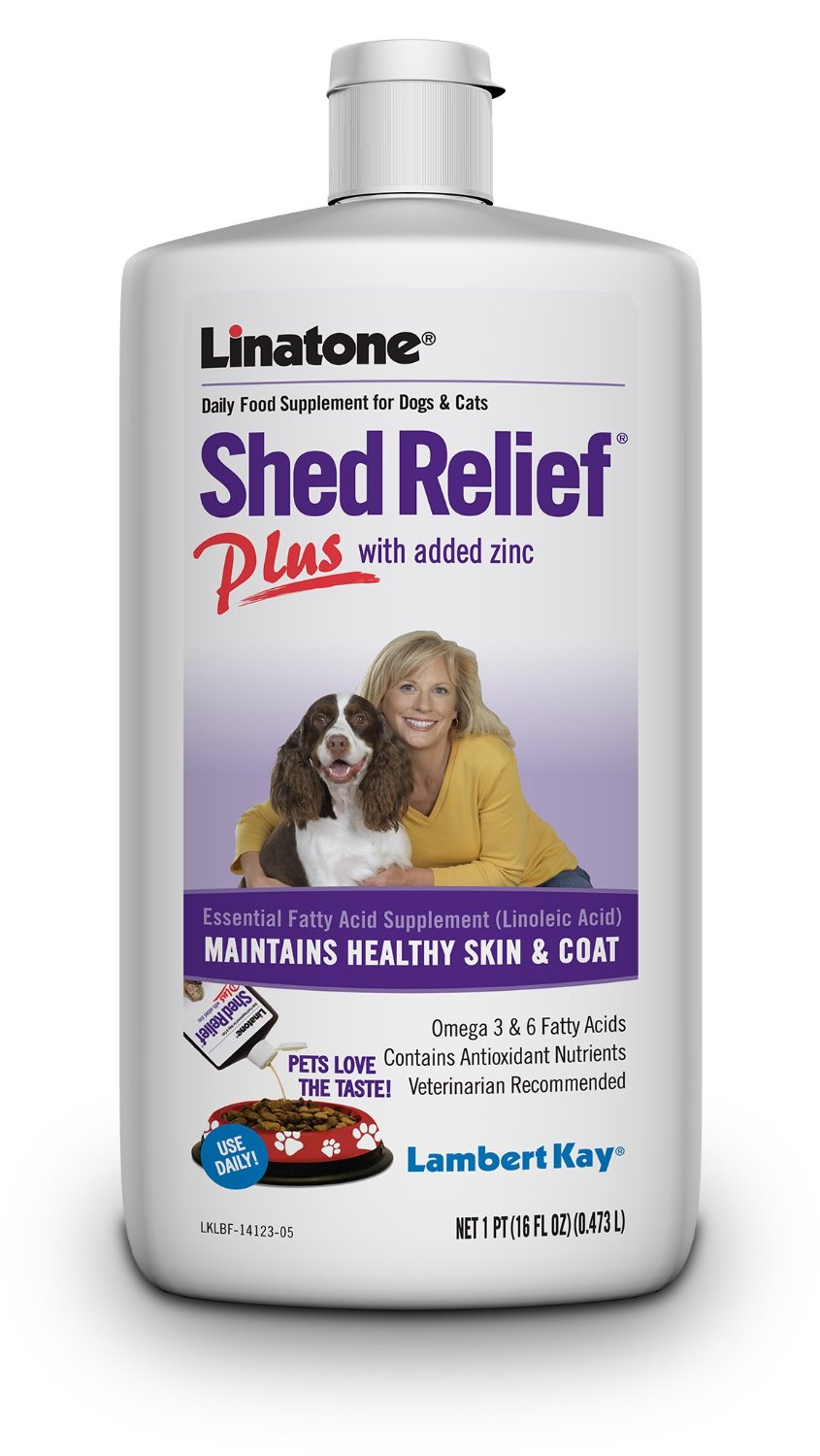 Lambert Kay Linatone Shed Relief Plus Dog and Cat Skin and Coat Liquid Supplement