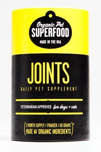 Organic Pet Superfood JOINTS Premium Supplement For Dogs and Cats