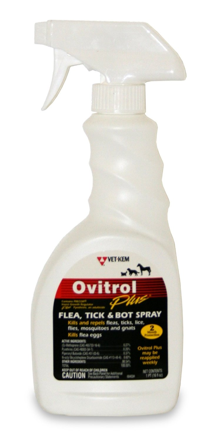 Ovitrol Plus Flea Tick and Bot Spray for Pets