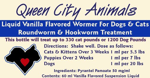 Queen City Animals Concentrated Liquid Vanilla Wormer