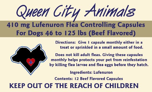 Queen City Animals Flea Controlling Capsules For Dogs