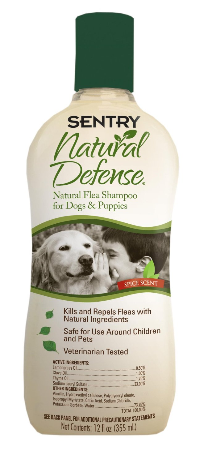 Sentry Natural Defense Flea Shampoo for Dogs and Puppies