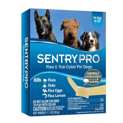 Sentry Pro Flea and Tick IGR Collar for Dogs