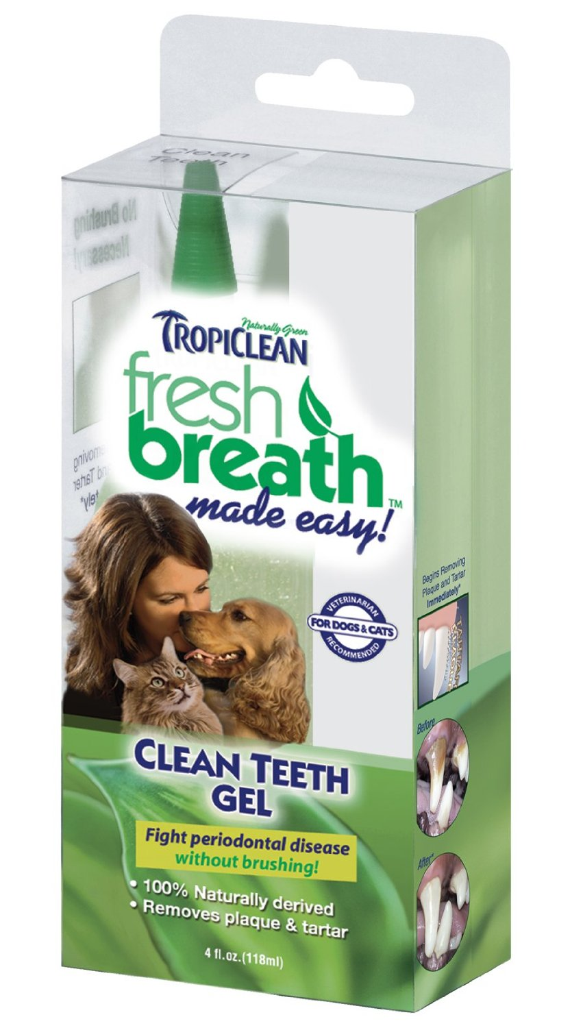 Tropiclean Fresh Breath Plaque Remover Pet Clean Teeth Gel