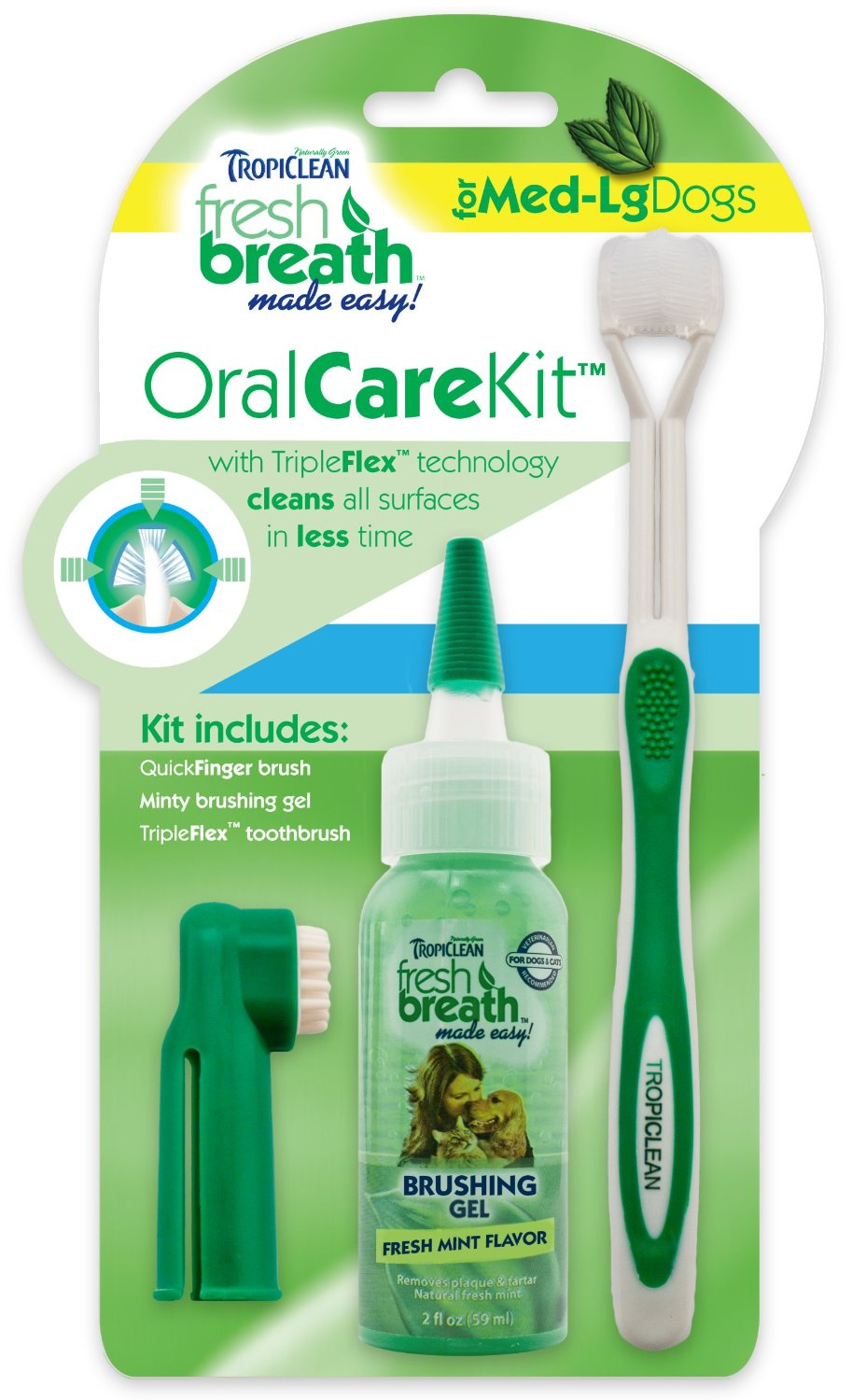 Tropiclean Fresh Breath Plaque Remover Pet Oral Care Kit