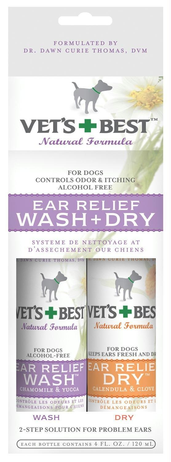 Vet's Best Ear Relief Wash & Dry
