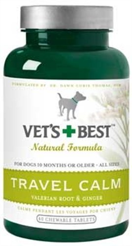 Veterinarian's Best Relaxed Dog Travel Calm Formula Chewable Tablets