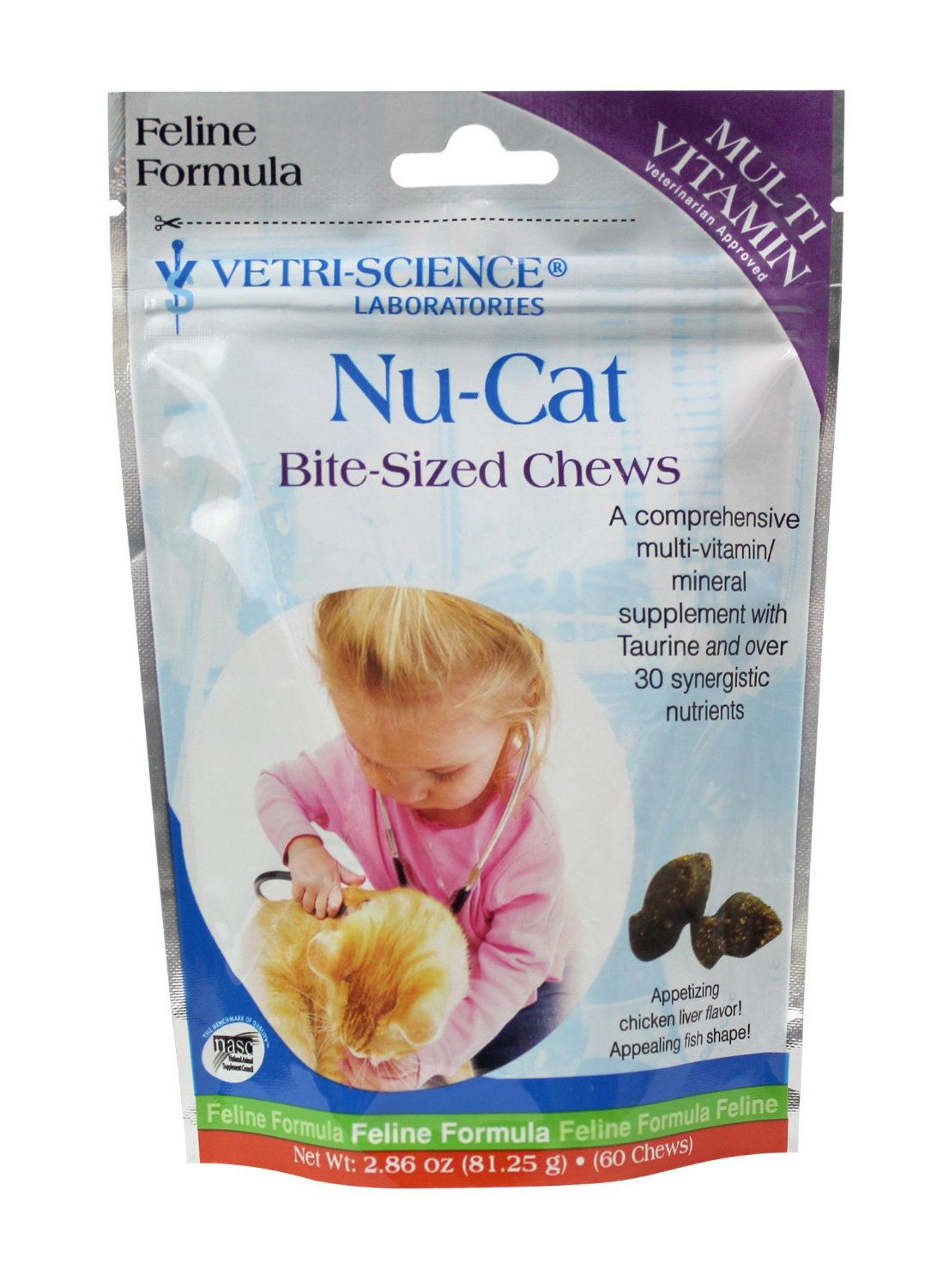 Vetri-Science Nu-Cat Bite-Sized Chew