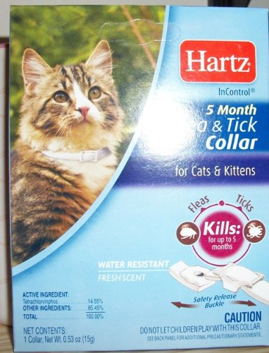 White Hartz 5 Month Flea and Tick Collar for Cats and Kittens